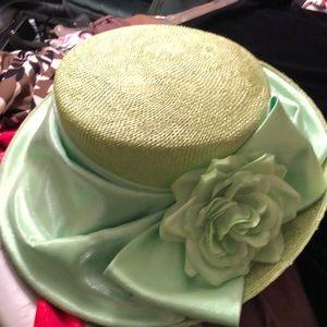Mint green hat